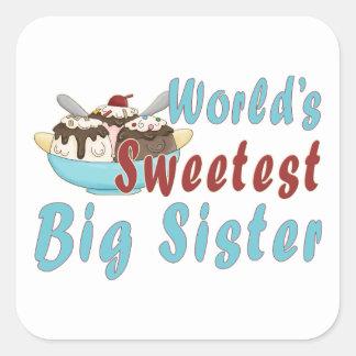 El helado grande más dulce 2 del SIS del mundo Pegatina Cuadrada