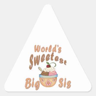 El helado grande más dulce del SIS del mundo Pegatina Triangular