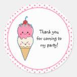 El helado lindo le agradece pegatinas redondas