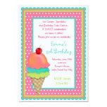 El helado trata invitaciones del cumpleaños invitación