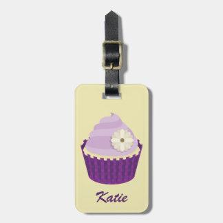 El helar púrpura de la vainilla del remolino etiquetas bolsas