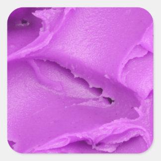 El helar púrpura pegatina cuadrada