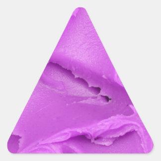 El helar púrpura pegatina triangular