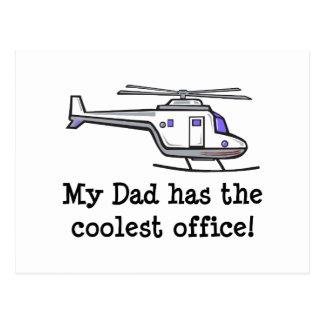 El helicóptero fresco de mi papá postal