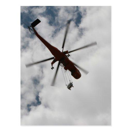 El helicóptero postal
