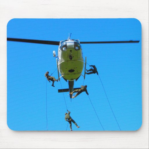 El helicóptero Rappel Tapetes De Ratones