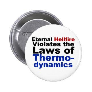 El Hellfire eterno viola la termodinámica Pin Redondo De 2 Pulgadas