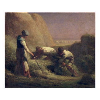 El heno Trussers, 1850-51 Póster