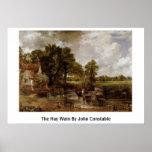 El heno Wain de John Constable Posters