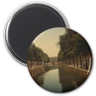 El Herengracht, Amsterdam, Países Bajos Imán Redondo 5 Cm