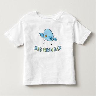 El hermano mayor embroma la camisa, pájaro lindo tee shirt
