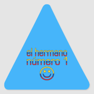 El Hermano Número 1 - Number 1 Brother Colombian Triangle Sticker