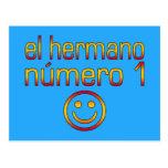 EL Hermano Número 1 - número 1 Brother en español Postal