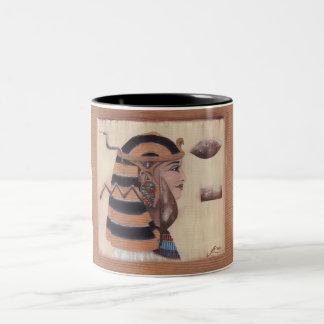 El hermoso ha venido taza de café de dos colores