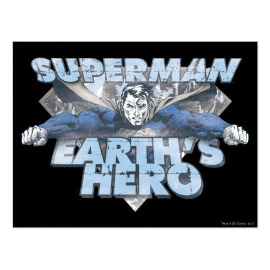 El héroe de la tierra - azul postales
