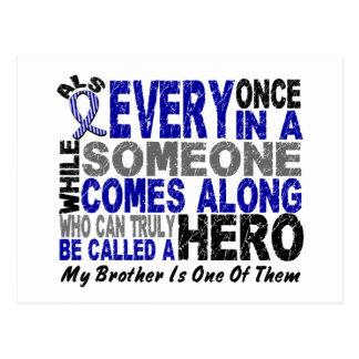 El héroe del ALS viene adelante 1 Brother Tarjeta Postal