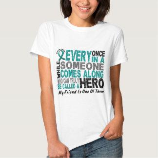 El héroe del cáncer ovárico viene adelante AMIGO Poleras