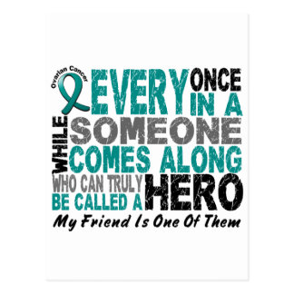 El héroe del cáncer ovárico viene adelante AMIGO Postales