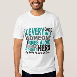 El héroe del cáncer ovárico viene adelante ESPOSA Remera