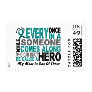 El héroe del cáncer ovárico viene adelante MAMÁ Sellos