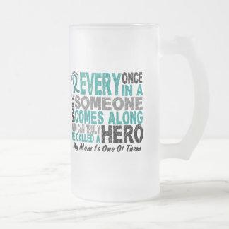 El héroe del cáncer ovárico viene adelante MAMÁ Taza De Café