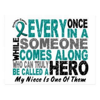 El héroe del cáncer ovárico viene adelante SOBRINA Tarjeta Postal
