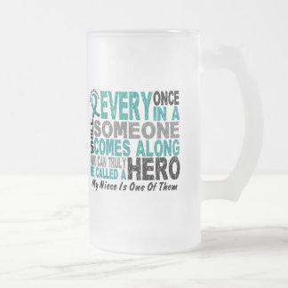 El héroe del cáncer ovárico viene adelante SOBRINA Tazas De Café