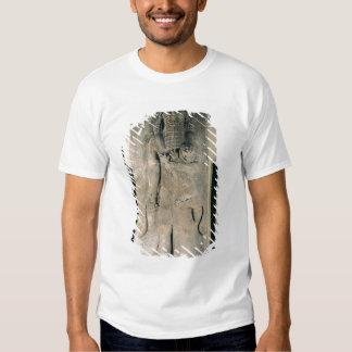 El héroe Gilgamesh que sostiene un león Camisas