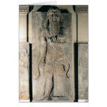 El héroe Gilgamesh que sostiene un león Felicitacion