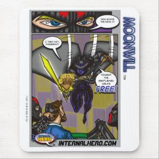 El héroe interno presenta el cojín de ratón de alfombrillas de ratones