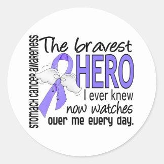 El héroe más valiente conocía nunca al cáncer de pegatina redonda