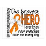 El héroe más valiente conocía nunca al cáncer del  tarjeta postal
