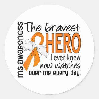 El héroe más valiente conocía nunca al ms pegatina redonda
