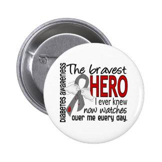El héroe más valiente sabía nunca la diabetes pin redondo de 2 pulgadas
