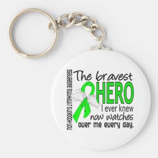 El héroe más valiente sabía nunca linfoma Non-Hodg Llavero Personalizado