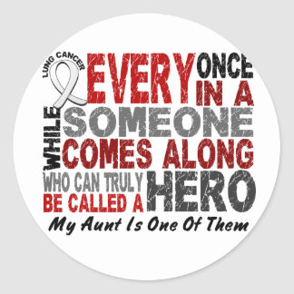 El héroe viene adelante 1 cáncer de la tía pulmón etiqueta