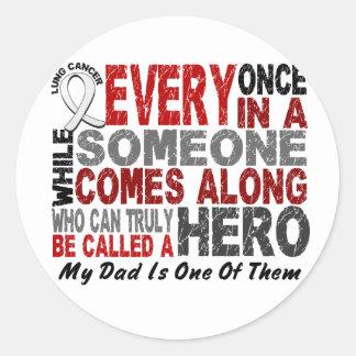 El héroe viene adelante 1 cáncer de pulmón del pap etiquetas