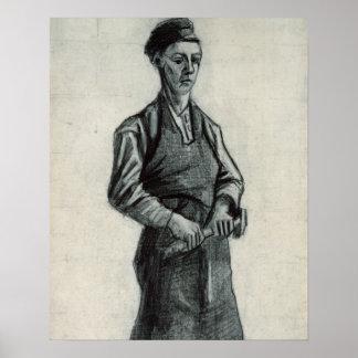 El herrero joven 1882 tiza y lápiz negros impresiones