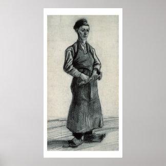 El herrero joven 1882 tiza y lápiz negros poster