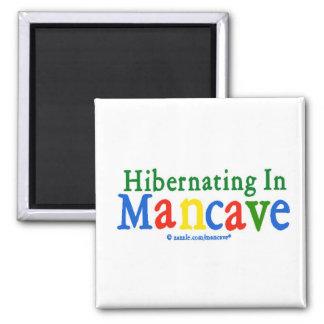 El Hibernating en Mancave Imán Para Frigorífico