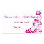 el hibisco blanco remolina tarjeta del asiento del tarjetas de visita