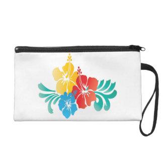 El hibisco de Hawaii florece el mitón