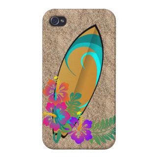el hibisco del tablero de resaca florece la caja u iPhone 4/4S fundas