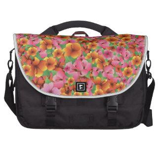 El hibisco exótico tropical florece diseño floral bolsa de ordenador