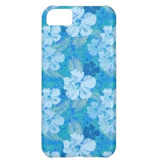 El hibisco florece el batik azul funda para iPhone 5C