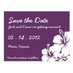 El hibisco florece el boda tarjetas postales