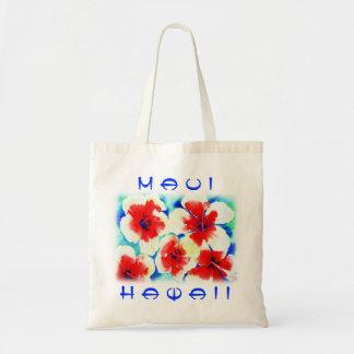 El hibisco florece el tote, compras o el bolso de  bolsa de mano