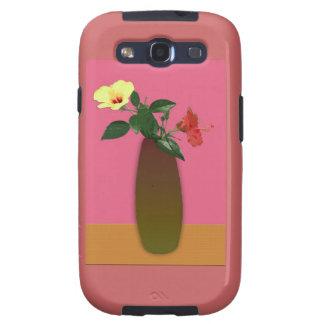 El hibisco florece la caja de la galaxia de Samsun Galaxy S3 Fundas