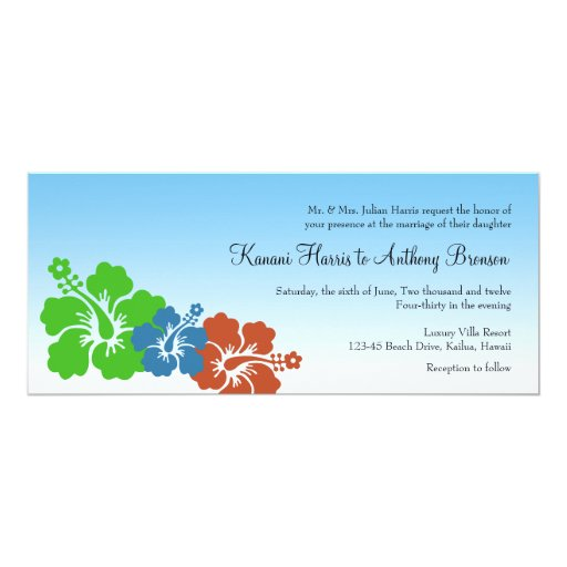 El hibisco hawaiano florece el boda del verde azul anuncios