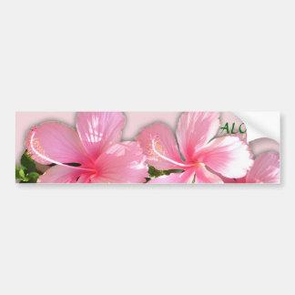 """¡El hibisco hawaiano rosado brillante florece """"haw Pegatina Para Auto"""